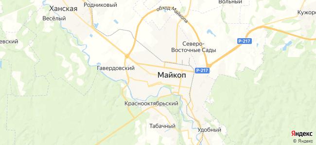 Майкоп на карте