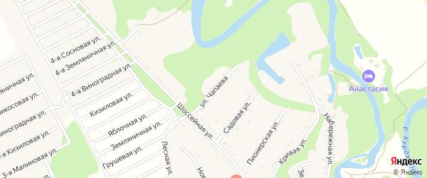 Улица Чапаева на карте Табачного поселка Адыгеи с номерами домов