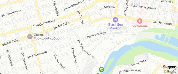 Средняя улица на карте Машиностроителя с номерами домов