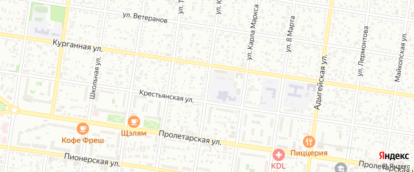 Улица Кольцова на карте Джанатана с номерами домов