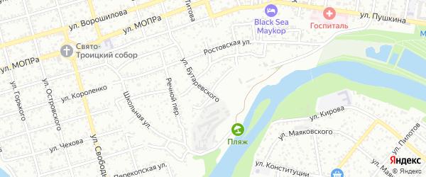 Набережная улица на карте Майкопа с номерами домов