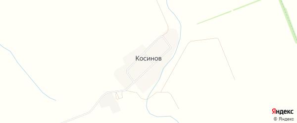 Карта хутора Косинова города Майкопа в Адыгее с улицами и номерами домов