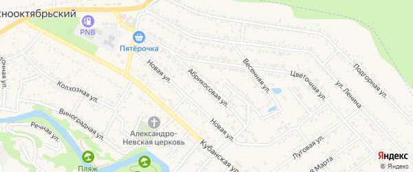 Абрикосовая улица на карте Краснооктябрьского поселка Адыгеи с номерами домов