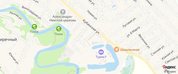 Улица Туристов на карте Краснооктябрьского поселка Адыгеи с номерами домов