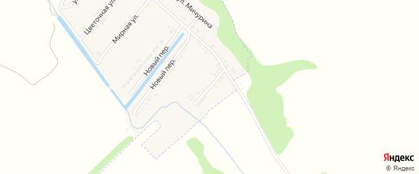 Солнечный переулок на карте Подгорного поселка с номерами домов