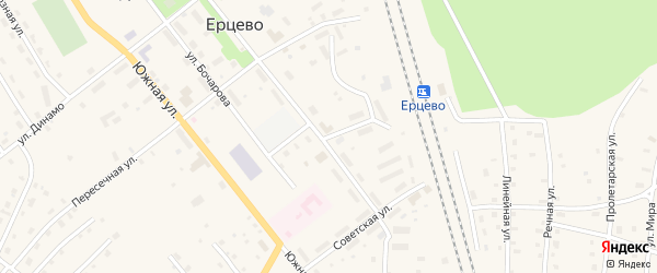 Коммунальная улица на карте поселка Ерцево с номерами домов