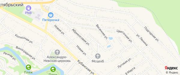 Улица Строителей на карте Краснооктябрьского поселка Адыгеи с номерами домов