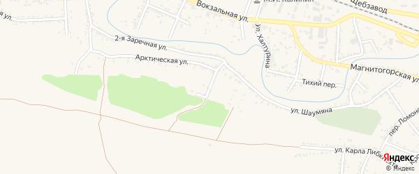 Профсоюзный переулок на карте Красного Сулина с номерами домов
