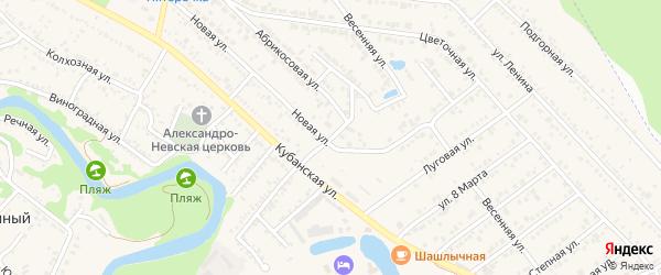 Улица Дружбы на карте Краснооктябрьского поселка Адыгеи с номерами домов