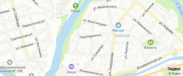 Садовая улица на карте Пищевик-1 с номерами домов