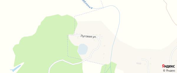 Луговая улица на карте села Ярок Тамбовской области с номерами домов