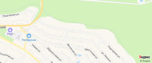 Подгорная улица на карте Краснооктябрьского поселка Адыгеи с номерами домов