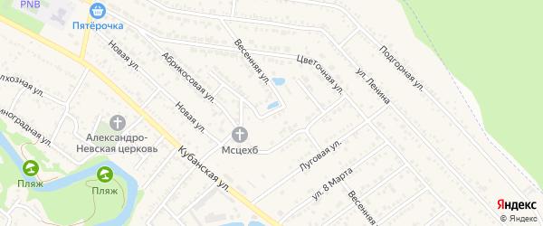 Красная улица на карте Краснооктябрьского поселка Адыгеи с номерами домов
