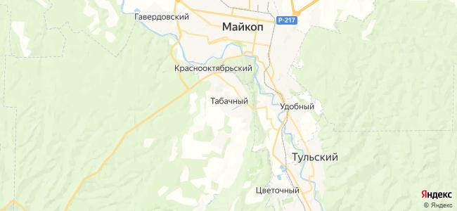 Табачный на карте
