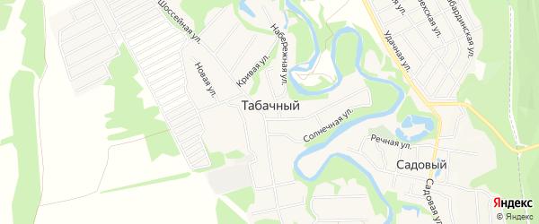 Карта Табачного поселка в Адыгее с улицами и номерами домов