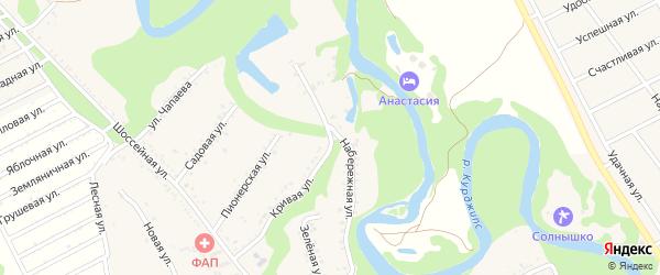Набережная улица на карте Табачного поселка Адыгеи с номерами домов