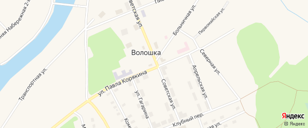 Клубный переулок на карте поселка Волошки с номерами домов