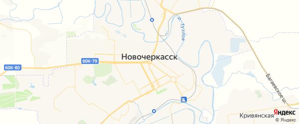 Карта Новочеркасска с районами, улицами и номерами домов