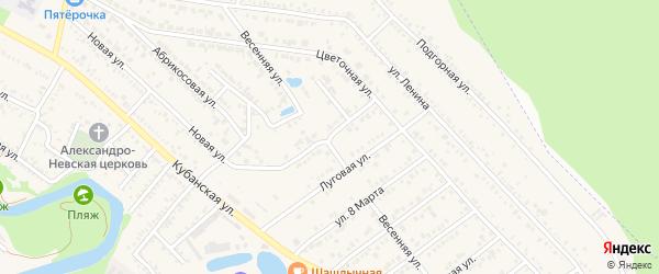 Вишневая улица на карте Краснооктябрьского поселка Адыгеи с номерами домов