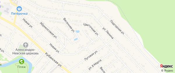 Вишневый переулок на карте Краснооктябрьского поселка Адыгеи с номерами домов