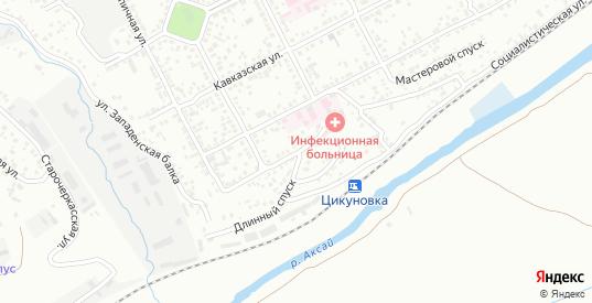 Короткий переулок в Новочеркасске с номерами домов на карте. Спутник и схема онлайн