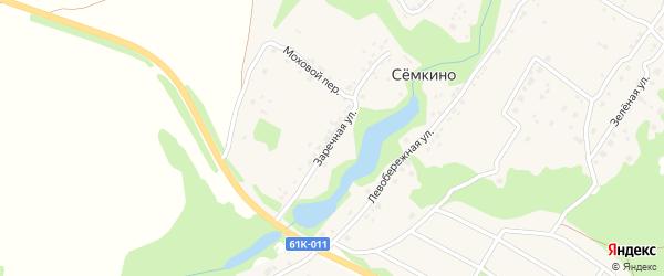 Заречная улица на карте села Семкино Рязанской области с номерами домов