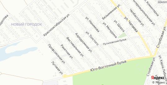 Аэродромная улица в Тихорецке с номерами домов на карте. Спутник и схема онлайн