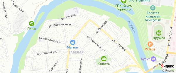 Улица Маяковского на карте Майкопа с номерами домов