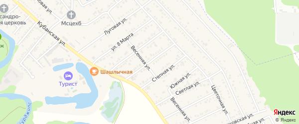 Российская улица на карте Краснооктябрьского поселка Адыгеи с номерами домов