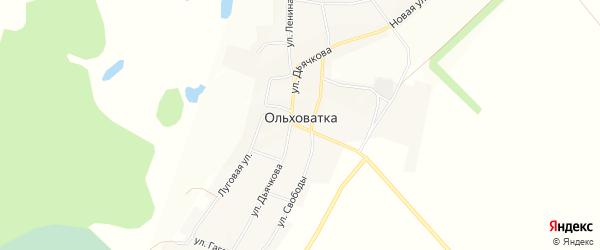 Карта села Ольховатки в Воронежской области с улицами и номерами домов