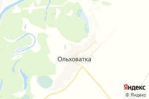 Карта с. Ольховатка Воронежская область