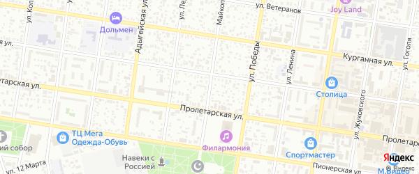 Майкопская улица на карте Яблоньки с номерами домов