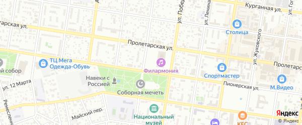 Улица Ханаху на карте Майкопа с номерами домов