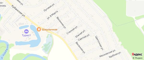Степная улица на карте Краснооктябрьского поселка Адыгеи с номерами домов