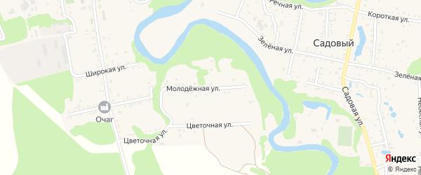 Молодежная улица на карте Табачного поселка Адыгеи с номерами домов