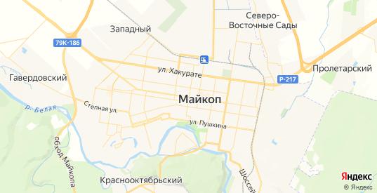 Карта Майкопа с улицами и домами подробная. Показать со спутника номера домов онлайн