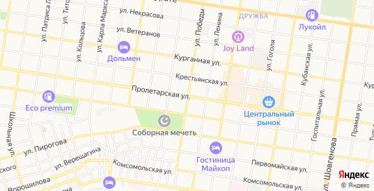 Карта садового некоммерческого товарищества Заря в Майкопе с улицами, домами и почтовыми отделениями со спутника онлайн