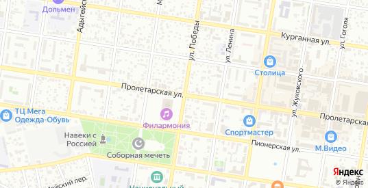 Нефтегорский переулок в Майкопе с номерами домов на карте. Спутник и схема онлайн