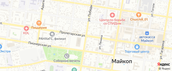 Фруктовая улица на карте Пищевик-1 с номерами домов