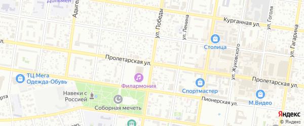 Переулок Журавлева на карте Майкопа с номерами домов