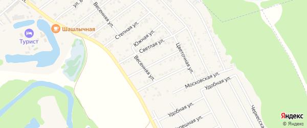 Сиреневая улица на карте садового некоммерческого товарищества Малиновки Адыгеи с номерами домов