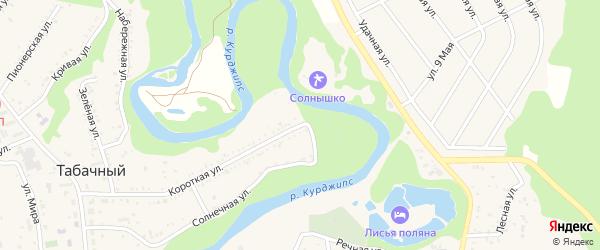 Короткая улица на карте Табачного поселка Адыгеи с номерами домов
