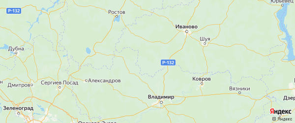 Карта Гаврилово-посадского района Ивановской области с городами и населенными пунктами