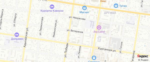 Улица Ветеранов на карте Селекционера с номерами домов