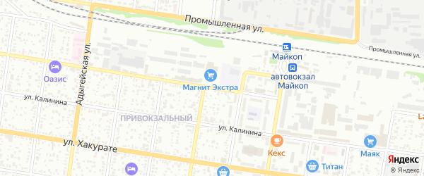 Привокзальная улица на карте Майкопа с номерами домов