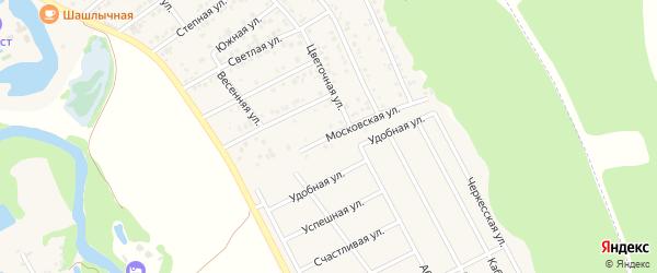 Московская улица на карте Краснооктябрьского поселка Адыгеи с номерами домов