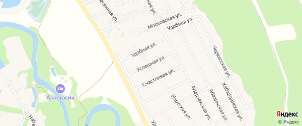 Успешная улица на карте Краснооктябрьского поселка Адыгеи с номерами домов