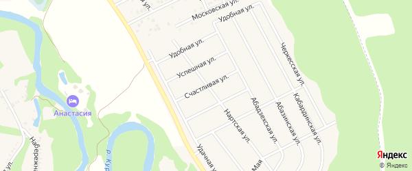 Счастливая улица на карте Пищевик-1 с номерами домов