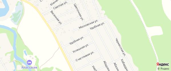 Удобная улица на карте Краснооктябрьского поселка Адыгеи с номерами домов