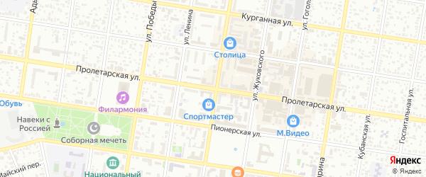 Пролетарская улица на карте Майкопа с номерами домов